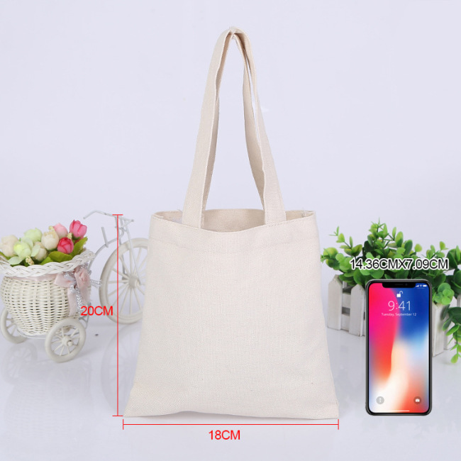 Manufacturers customized student advertising shopping cotton bag literature and art single shoulder canvas bag spot blank portable canvas bag