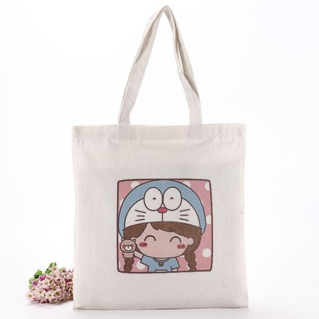 Canvas bag, hand bag, customized cotton bag, paper bag, advertising shopping bag, customized canvas bag, bunch mouth, storage and printing logo