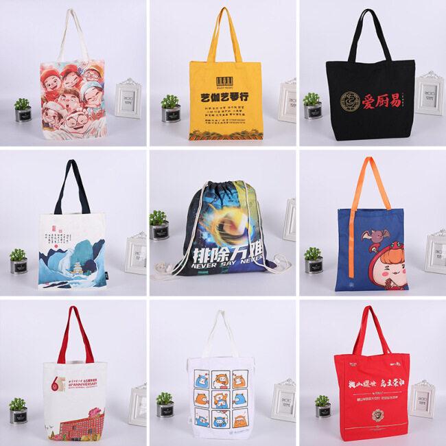 Manufacturer portable blank canvas bag spot cotton bag customized advertising shopping bag single shoulder canvas bag customized