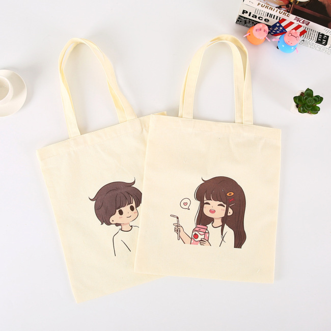 Spot cartoon Calico Bag creative advertising canvas bag customization portable shopping cotton bag customization