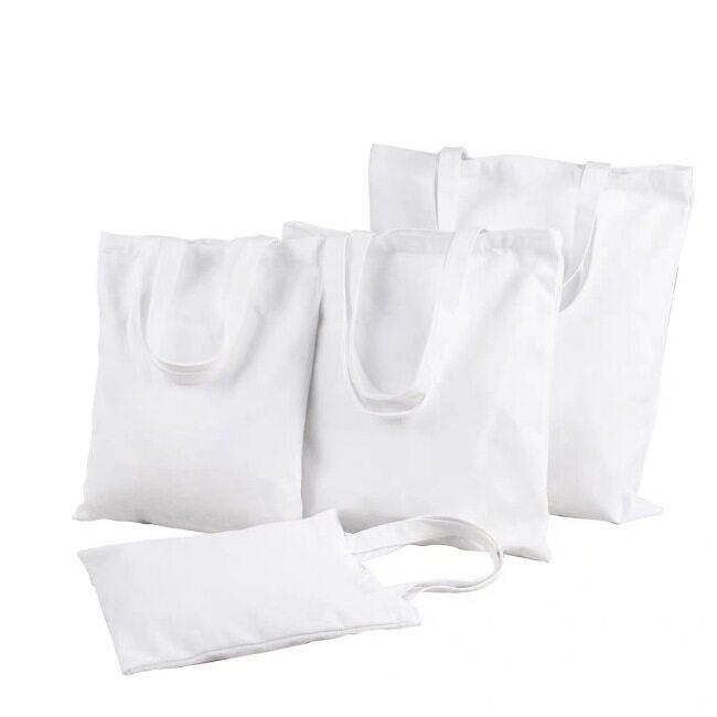 Canvas bag custom logo portable straddle one shoulder blank canvas bag all cotton bag student gift bag custom