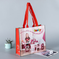 Production of non-woven bags, customized logo, film covered non-woven three-dimensional bags, advertising bags, portable shopping bags, bundle bags