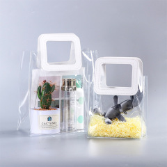 Laser gift bag transparent portable 520 gift with hand gift bag PVC customized plastic bag packaging spot