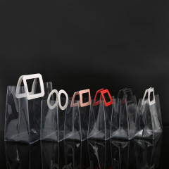 PVC portable gift bag transparent waterproof plastic hand bag wedding wedding candy gift bag customized high grade PP bag