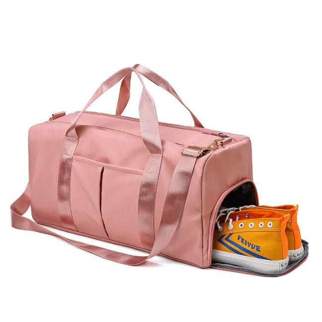 2021 travel bag dry wet separation exercise Yoga Fitness bag large capacity short distance travel training customized logo