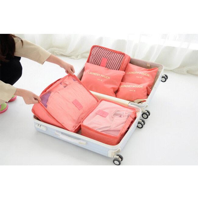Factory direct sales travel Oxford cloth clothing storage bag travel custom set underwear finishing six piece set storage bag