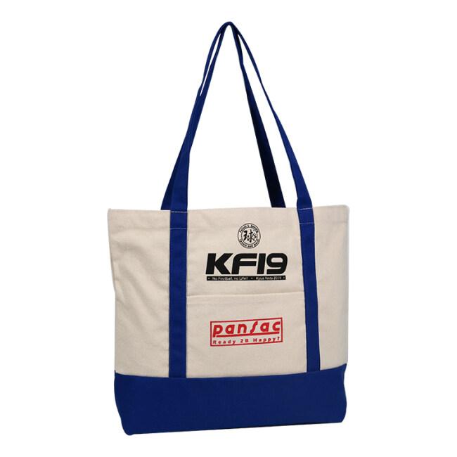 Black handle canvas bag custom print promotional 100% cotton canvas tote bag wholesale
