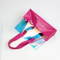 Promotional Eco-friendly Waterproof Tote Laser Bag Clear PVC Hand Bag For Shopping