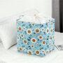 Home cotton linen PE coverage waterproof dustproof storage bag drawstring folding dirty clothes organizer bag laundry storage ba