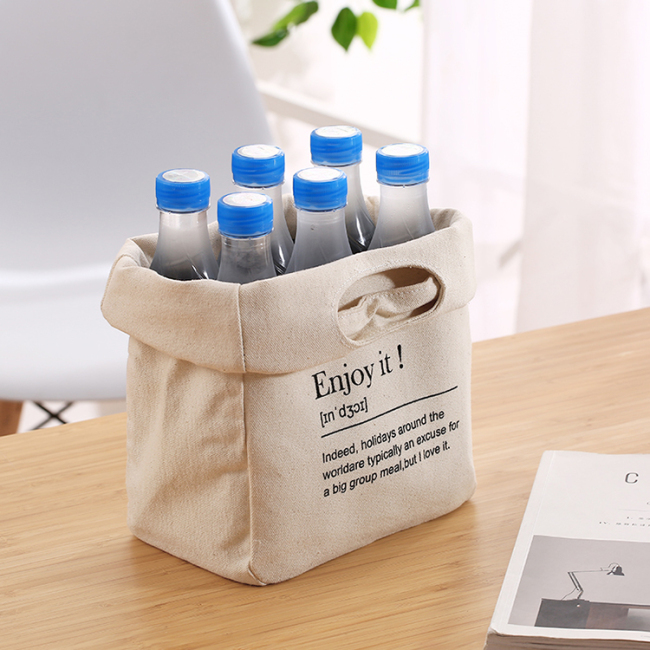 OEM Eco-friendly customized durable waxed canvas water lunch bag