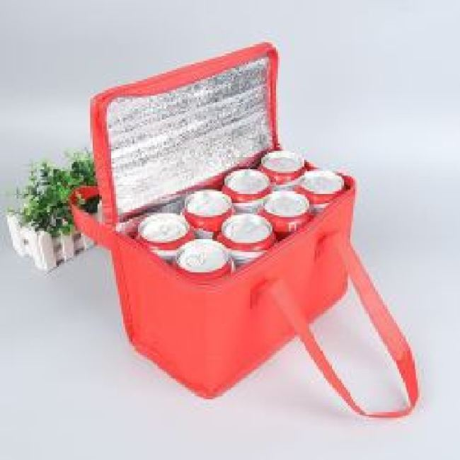 Custom Design Insulated Cooler Bag Non Woven Outdoor Food Delivery Cooler Bag