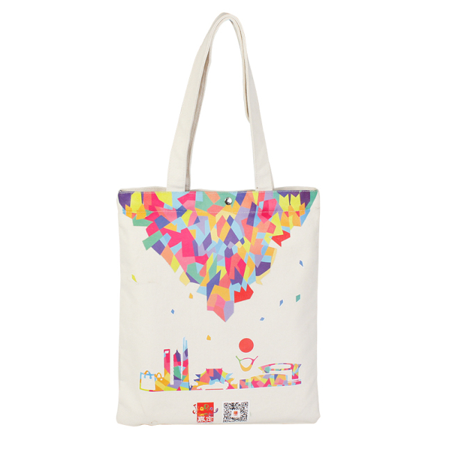 Promotional Shopping Bag Custom Printed Canvas Tote Organic Black Cotton Bag