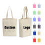 Promotional Personalized Bags Blank Plain Cotton Canvas Tote Bags Reusable Shopping Cotton Bags