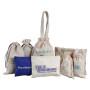 Wholesale Eco Friendly Cotton Canvas Drawstring Handles Gift Bag With Custom Printed Logo