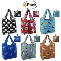 Promotional foldable grocery shopping bag, Superior quality reusable grocery bag, Foreign trade foldable  shopping bag
