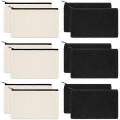 Wholesale Custom Design Logo Printed Plain Organizer Gift Pencil Cotton Canvas Pouch Toiletry Travel Makeup Cosmetic Bag