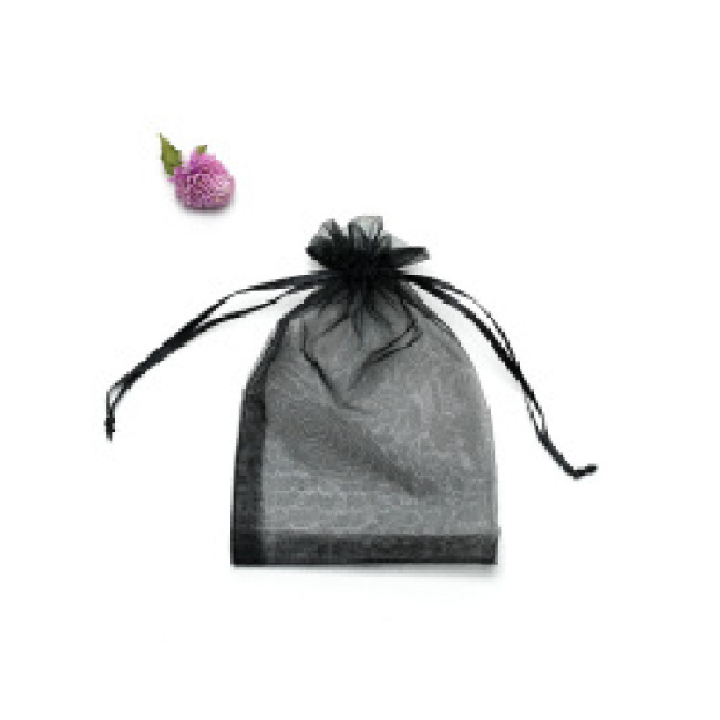 9x12 cm Wholesale Customized Promotional Small Drawstring Nylon Mesh Bag Package Organza Jewelry Gift Bags