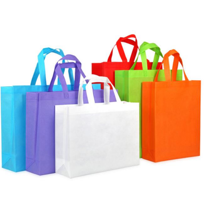 Non Woven Shopping Reusable Laminated Non Woven Bag Wholesale Custom Colorful Non-woven Bag, Cheap Folding Tote Bag Letter