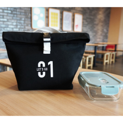 Wholesale Cheap Ecofriendly Thermal Food Delivery aluminium foil Insulated adult canvas cotton Lunch Cooling Chiller Cooler Bag
