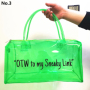High Quality Much Stock No MOQ Transparent 8 Color Durable Good Reviews PVC Duffle Overnight Travel Bag