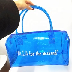 WR 2021 High Quality Much Stock No MOQ Transparent 8 Color Durable Good Reviews PVC Spend A Night Duffle Overnight Travel Bag
