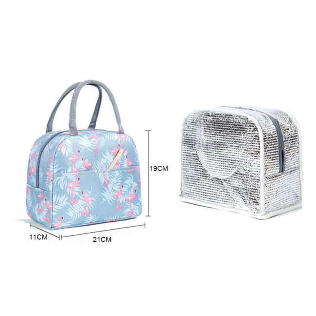 2020 Insulated Lunch Bag Thermal Custom Flamingos Printing Tote Bags Cooler Picnic Food Lunch Box Bag