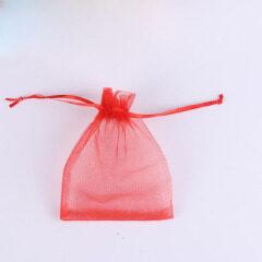 Wholesale Organza Colorful Custom Logo Gift Mesh Drawstring Bag