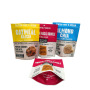 Free Sample Custom Printing Stand up Dried Food Packaging Pouches Zip Lock Plastic Bags for Cookie Biscuit