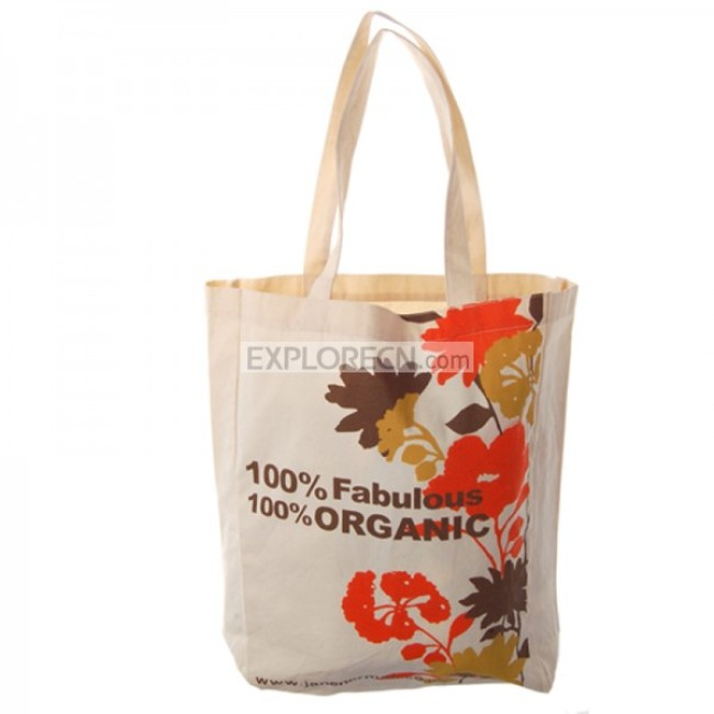 Natural Organic Cotton Tote Bag