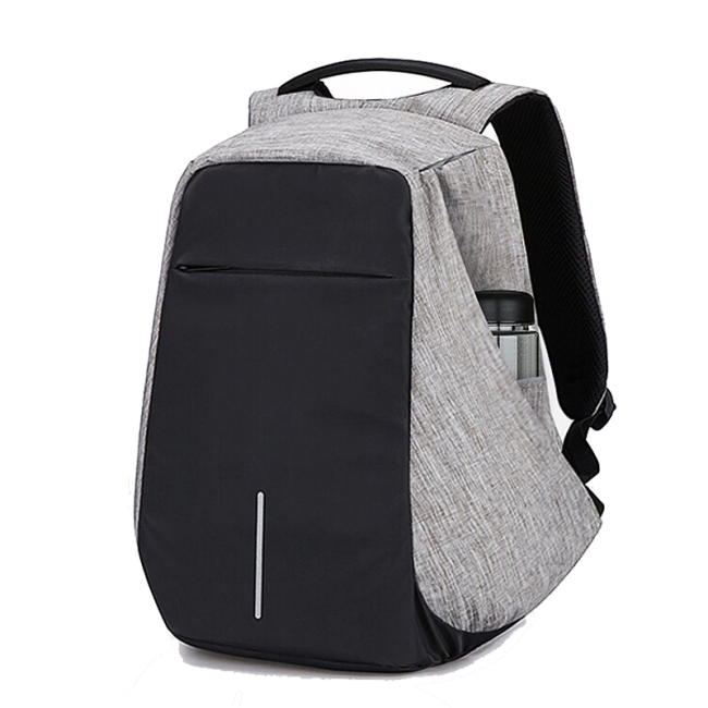 Business laptop theft proof plain backpack