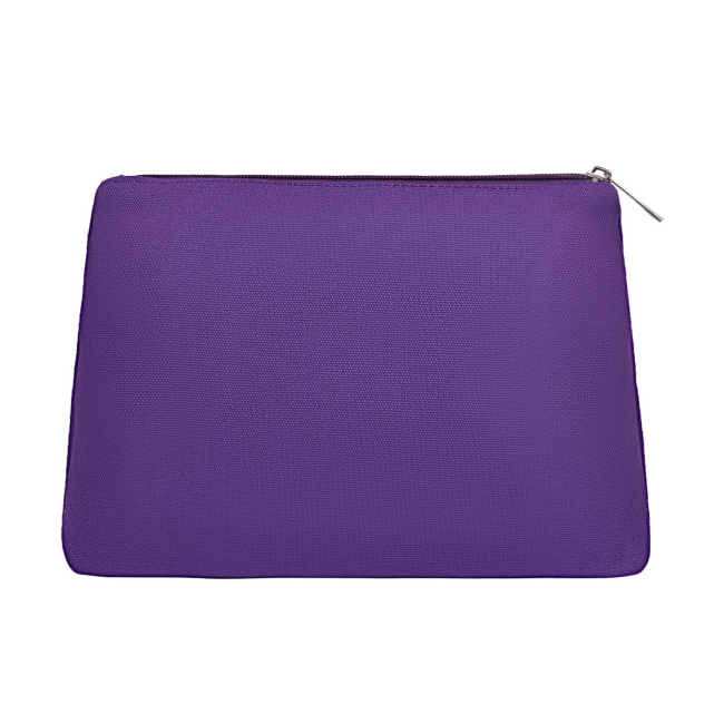 Eco friendly Canvas Makeup Bag Plain Cosmetic
