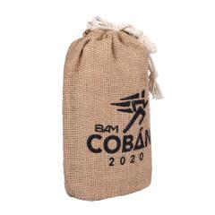 Gift Storage Drawstring Shopping Tote Jute Linen Bag