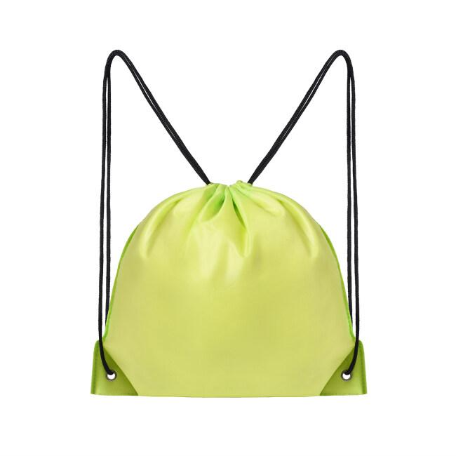 Custom Sport Drawstring Bag Polyester Gym Sack Backpack