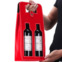 Leather 2 Wine Carrying Tote