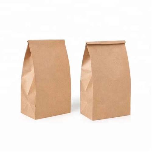 2019 Custom Size Cheap Food Grade Wax Roll Kraft Paper Bag Without Handle Recycle paperCustom Size Cheap Food Grade Wax Roll Kraft Paper Bag Without Handle Recycle paper