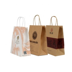2019 Customized Retail Brown Kraft Paper Recyclable Food Packaging Bag for Wholesale,Kraft Paper Bag