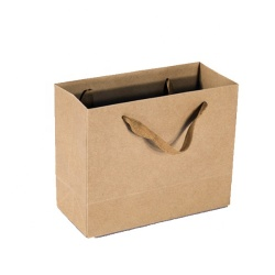 2019 Customized printed recycle kraft paper bags shopping brown kraft paper bag for shopping shoes