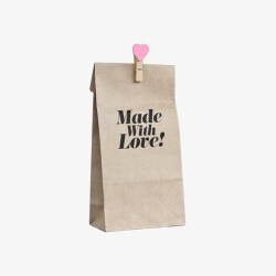 2019 Eco friendly slogans coated kraft paper food bag