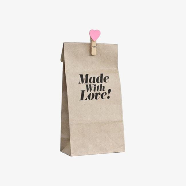 2019 Eco friendly slogans coated kraft paper food bag