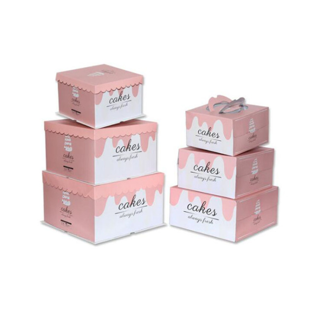 Customized High quantity Food Grade Cardboard Round Tall Birthday Cake Box