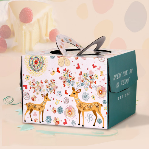 hot sale different types decorative paper cake box wholesale custom printed cake boxes