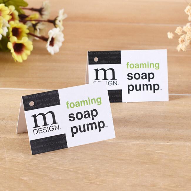 Folded card socks hang tag clothing custom tags for display product tag