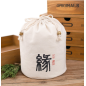 Best Price Black White Cotton canvas drawstring bag backpack with logo