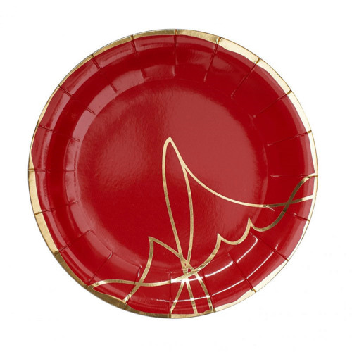 Compostable Paper Plate Gold Stamping Marble Pattern Dinner Tableware Disposable Paper Plates for Party Supplies
