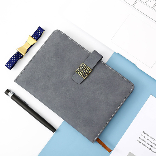 2021   new arrival Custom print premium PU leather cover notebook A5 journal diary and pen gift set