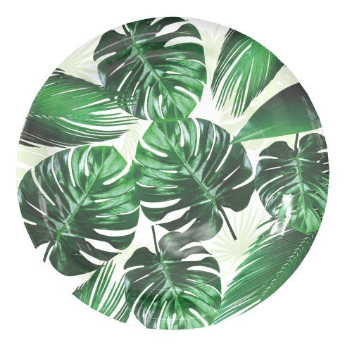 Factory Wholesale Custom Palm Paper Disposable Plate Round Shaped 9 Inches Party Paper Plate