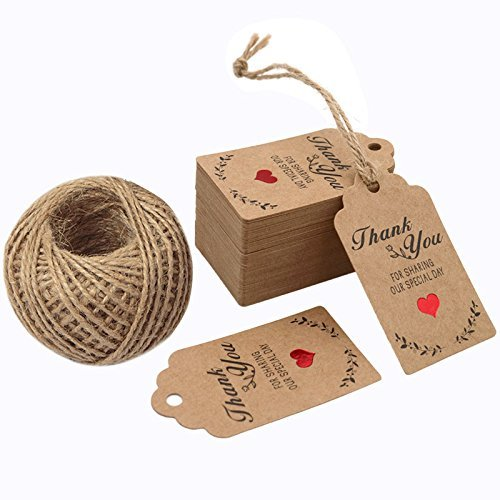 Thank You Brown Paper Tags Handmade For You Pendant Gift Box Baking Decorative Paper Hang Tags For Wishes Card