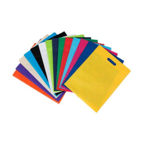 Customized logo non woven flat bag school student packaging bag shopping bag