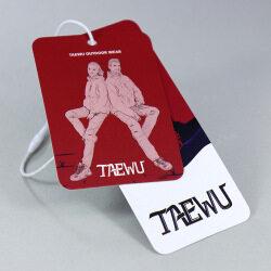 Cheap Custom Printing Brand Name Logo Paper Clothing Price Hang Tag