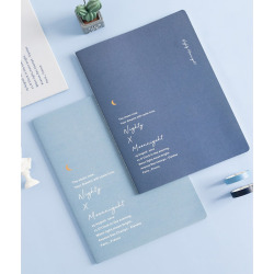 2021   new arrival Creative stationery simple art student web celebrity notepad girl's hardcover diary notebook